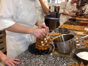 croquembouche making