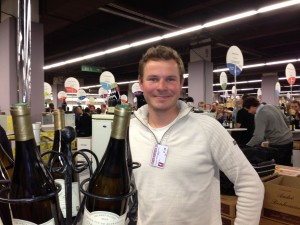 Salon 2014 Aurelien winemaker at Bonhomme