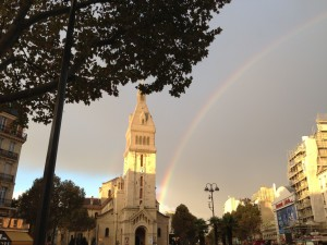 Saint Pierre de Montrouge rainbow