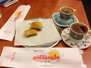 Baklava and cafe at spice market