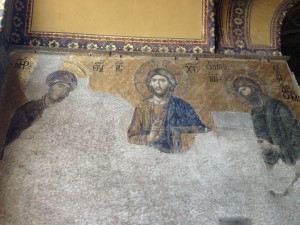 Hagia Sophia Christ and Mary and John