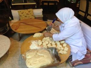 Istanbul Woman making Manti