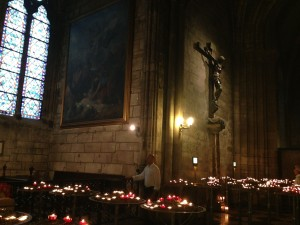Notre Dame July, 27, 2014 candles