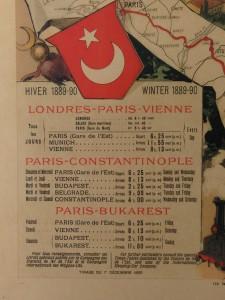 Orient Express Schedule Poster