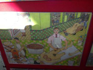 Saint Anne tile painting surgery