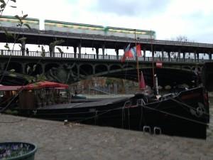 Barge near Line 6 metro