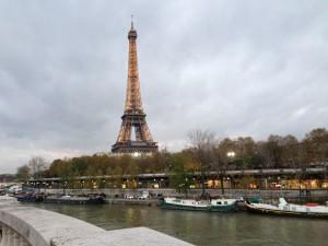 Barges under La Tour Eiffel