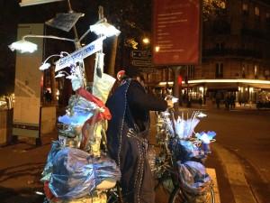 Nuit Blanche decorative bicylist