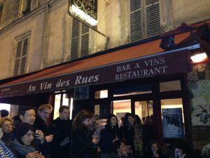 Bar a vins fete de beaujolais