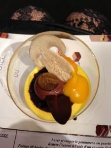 Chocolate salon potimarron dessert