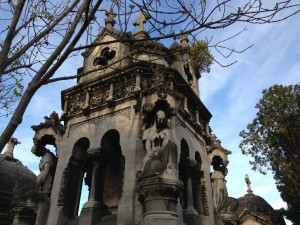 Pere Lachaise huge elaborate family crypt